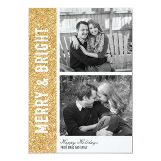Fröhliche u. helle Glitter-Karte 12,7 X 17,8 Cm Einladungskarte