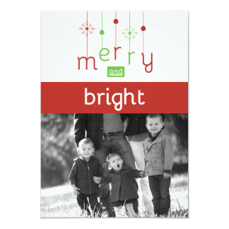 Fröhliche u. helle kundengerechte Weihnachtskarten Karte