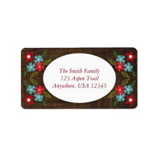 Fröhliche u. helle Weihnachtsadressen-Etiketten Adressaufkleber