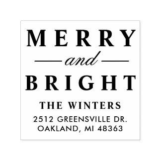 Fröhliche und helle | Feiertags-Adresse Permastempel