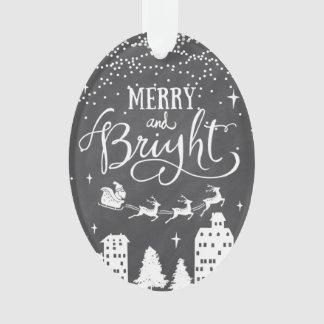 Fröhliche und helle Weihnachtsverzierung Ornament