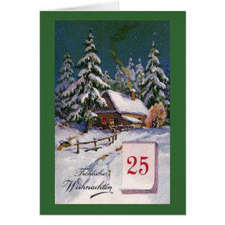 """""""Frohliche Weihnachten"""" Vintager Deutscher Grußkarte"""