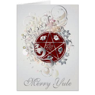 Fröhliche Weihnachtenpentagram-Miniatur-Karte - 3B Grußkarte