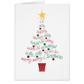 Fröhliche Weihnachtsbaum-Karte Karte