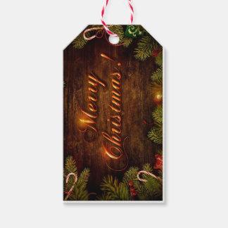 Fröhliche Weihnachtsbrauch-Geschenk-Umbauten Geschenkanhänger