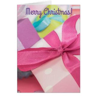 Fröhliche Weihnachtsgeschenk-Gruß-Karte Karte
