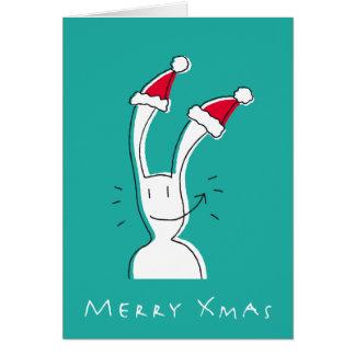 Fröhliche Weihnachtsgruß-Karte durch BixTheRabbit Grußkarte