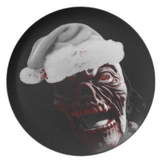Fröhlicher blutiger Halloween-Zombie Sankt Essteller