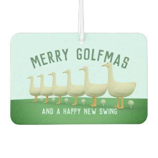 Fröhlicher Golfmas glücklicher Lufterfrischer