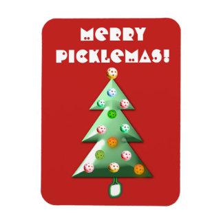 Fröhlicher Picklemas Feiertags-Magnet Magnet