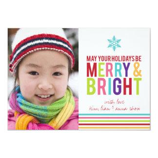 Fröhlicher u. heller Feiertag Stripes Weihnachtsfl Einladung