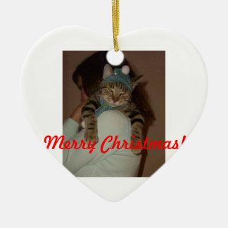 Fröhlicher Weihnachten-Boris Catenov Keramik Herz-Ornament