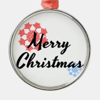 Fröhlicher Weihnachtsbaum-Dekor Rundes Silberfarbenes Ornament