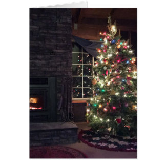 Fröhlicher Weihnachtsbaum Karte