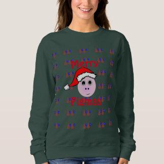 Fröhliches Pigmas, hässliche Weihnachtsstrickjacke Sweatshirt