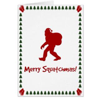 Fröhliches Squatchmas! (Weihnachtskarte) Karte