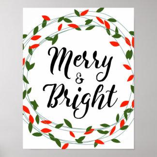 Fröhliches und helles - Weihnachten - Plakat