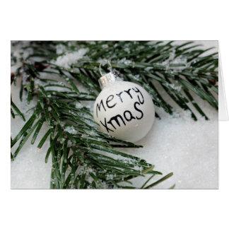 Fröhliches Weihnachten Baubel in der Grußkarte