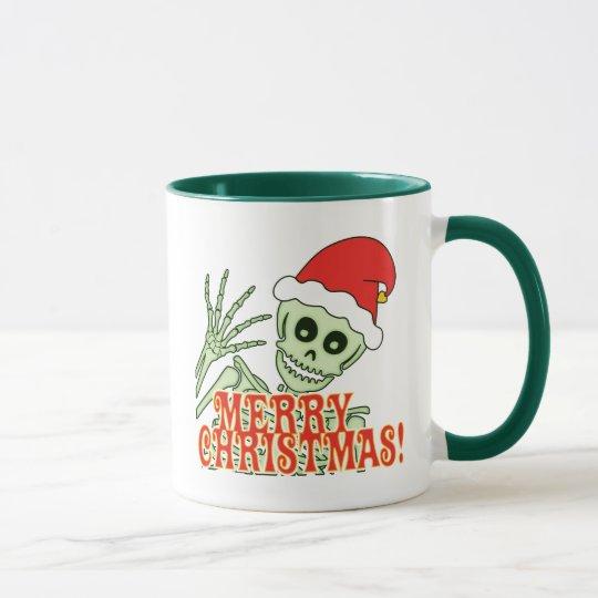 Fröhliches Weihnachtsskelett Tasse