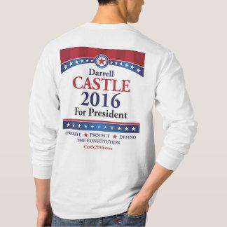 Front des Schloss-2016 u. Rückseite - langes T-Shirt