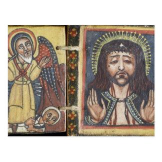 Front eines doppelseitigen Diptych mit Mary Postkarte