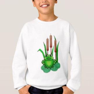 Frosch auf einem Wasser lilly Sweatshirt