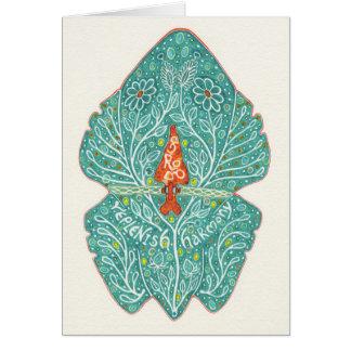 Frosch ergänzen Harmonie notecard Karte