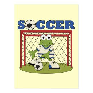 Frosch-Fußball-Tormann-T-Shirts und Geschenke Postkarte