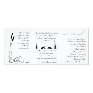 Frosch-Hochzeits-Einladung - religiös