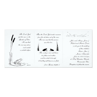 Frosch-Hochzeits-Einladung - religiös 10,2 X 23,5 Cm Einladungskarte
