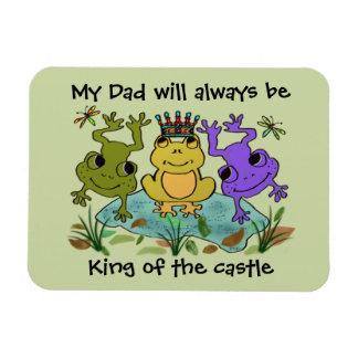 Frosch-König für den Vatertag Vinyl Magnet