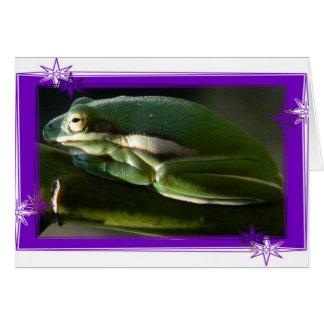 Frosch mit einer Mitteilung Gruß-Karte Karte