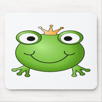 Frosch-Prinz Glücklicher Frosch Mousepads
