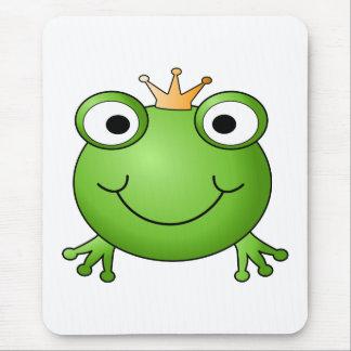 Frosch-Prinz. Glücklicher Frosch Mousepads