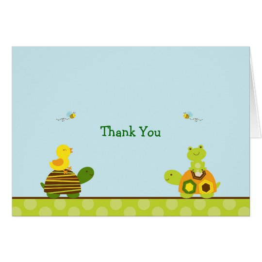 Frosch-Schildkröte-Ente danken Ihnen Karte