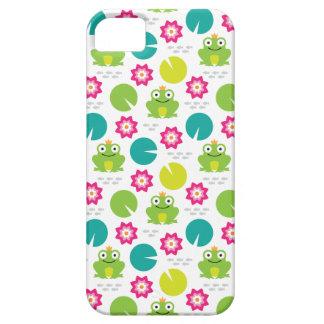 Frosch u. Nenuphar nahtloses Muster Schutzhülle Fürs iPhone 5