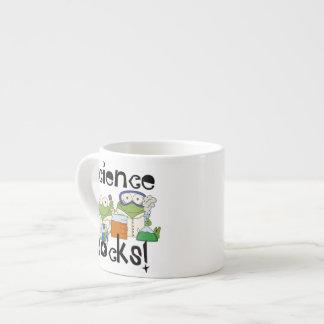 Frosch-Wissenschafts-Felsen Espressotasse