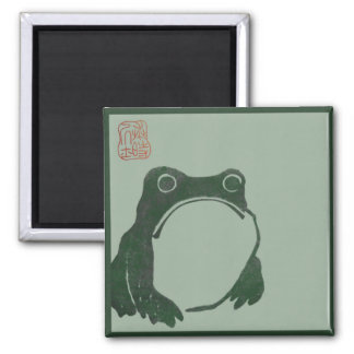 Frosch-Zen-Meditationsmagnet Quadratischer Magnet