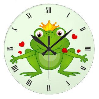 Froschprinz-Wanduhr Große Wanduhr