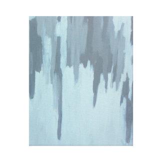 Frost auf der Fenster-abstrakten Malerei auf Leinwanddruck