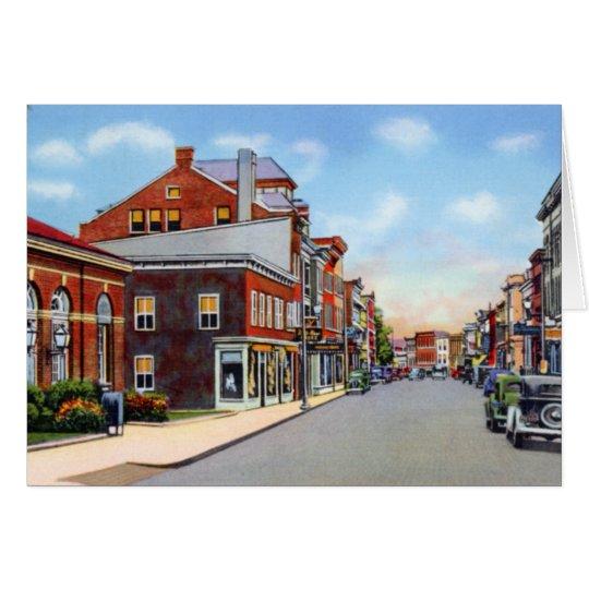 Frostburg Maryland Staatsangehörig-Straße Grußkarte