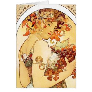 """""""Frucht-"""" Anmerkungs-Karte Alphonse Mucha Karte"""