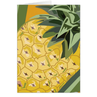 Frucht-Anmerkungs-Karte - Ananas Karte