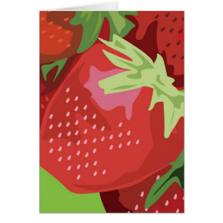 Frucht-Anmerkungs-Karte - Erdbeeren Karte
