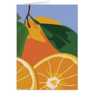 Frucht-Anmerkungs-Karte - Orangen Karte