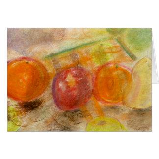 Frucht-AnordnungsNr. 1- Pastellanmerkungskarte Karte