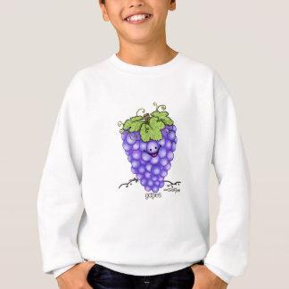 Frucht-Cartoon - Trauben Sweatshirt