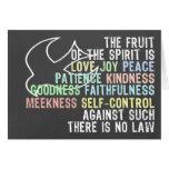 Frucht des Geist-Tafel-Blick-Bibel-Verses Grußkarte