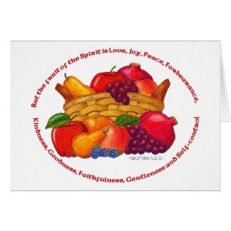 Frucht des Geistes danken Ihnen zu kardieren Karte