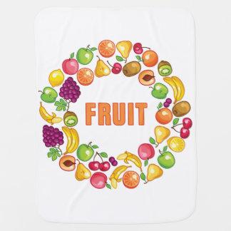 Frucht-Kreis Babydecke